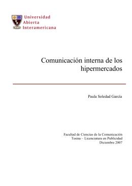 Comunicación interna de los hipermercados