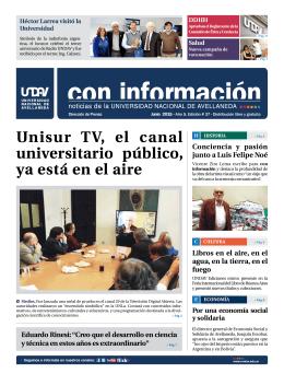 Unisur TV, el canal universitario público, ya está en el aire