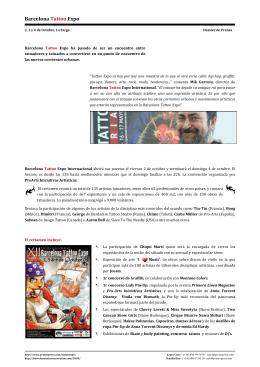 Tattoo 2009 Dossier Prensa