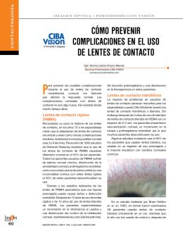 cómo prevenir complicaciones en el uso de lentes de contacto