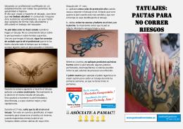 Tatuajes: Pautas para no correr riesgos