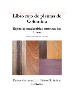 Libro rojo de plantas de Colombia