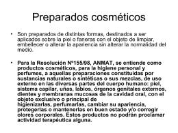 Preparados cosméticos - Facultad de Ciencias Naturales