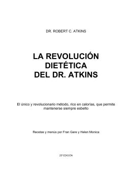 La Revolucion Dietetica de la Dieta del Dr. Atkins
