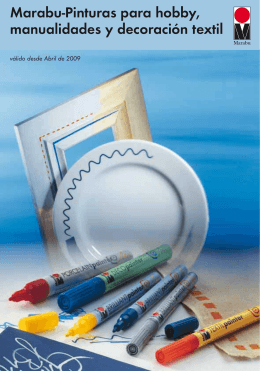 Marabu-Pinturas para hobby, manualidades y decoración textil