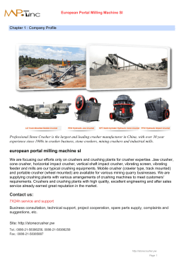 European Portal Milling Machine Sl