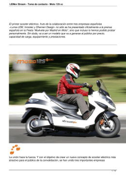 LEMev Stream - Toma de contacto - Moto 125 cc