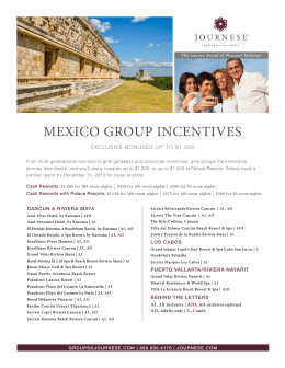 MEXICO GROUP INCENTIVES