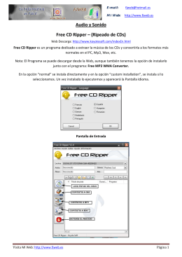 Audio y Sonido Free CD Ripper – (Ripeado de CDs)