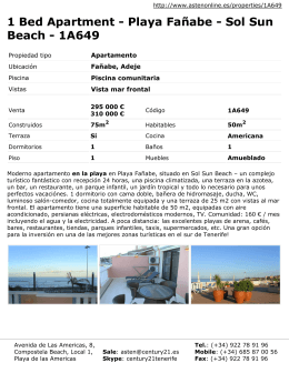 1 Bed Apartment - Playa Fañabe - Sol Sun Beach