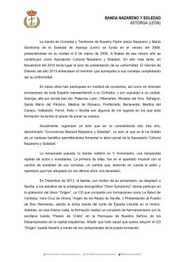 Presentacion Banda Nazareno y Soledad