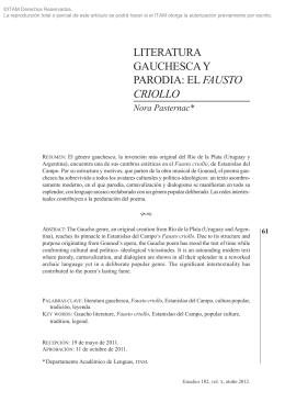 LITERATURA GAUCHESCA Y PARODIA: EL