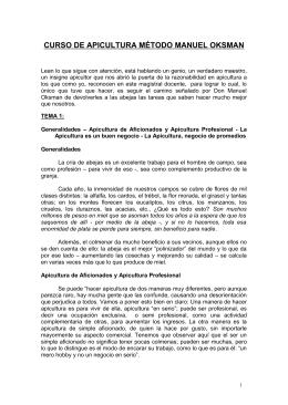 CURSO DE APICULTURA MÉTODO MANUEL OKSMAN