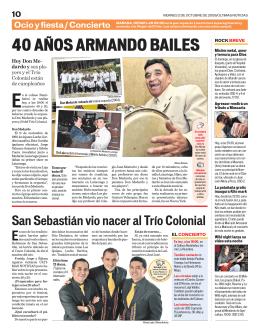 40 AÑOS ARMANDO BAILES