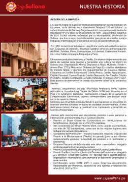 Historia - Caja Municipal de Sullana
