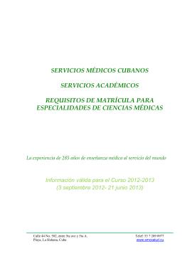 SERVICIOS MÉDICOS CUBANOS - Instituciones