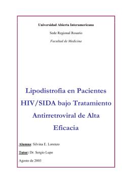 Lipodistrofia en Pacientes HIV/SIDA bajo Tratamiento