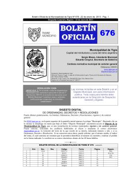 BOLETÍN OFICIAL 676 - Iniciotigre.gov.ar