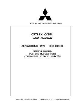 OPTREX CORP. LCD MODULE