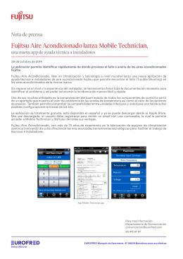 Fujitsu Aire Acondicionado lanza Mobile Technician,