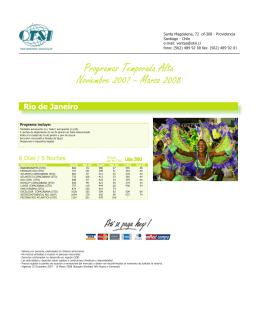Programas Temporada Alta Noviembre 2007 - Marzo 2008