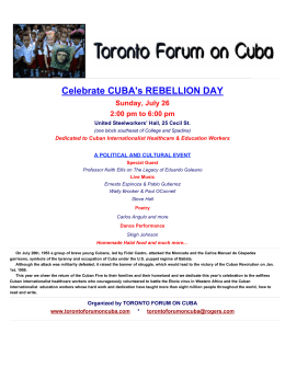 Celebrate CUBA`s REBELLION DAY