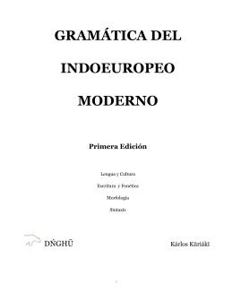 gramática del indoeuropeo moderno - Biblioteca Digital