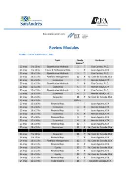 Review Modules - Universidad de San Andrés