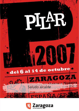 Programa Fiestas del Pilar 2007