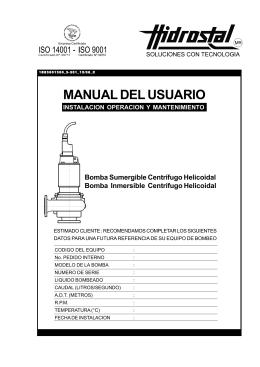 Bomba Sumergible Inmersible Centrifugo Helicoidal