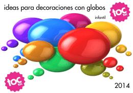 CATÁLOGO DECORACIÓN CON GLOBOS 2014