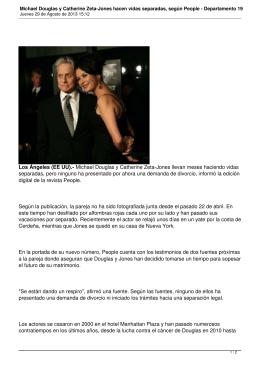 Michael Douglas y Catherine Zeta-Jones hacen