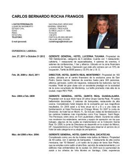 CARLOS BERNARDO ROCHA FRANGOS