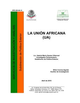 LA UNIÓN AFRICANA (UA)