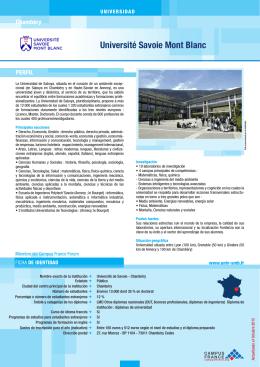 Université de Savoie - Chambéry