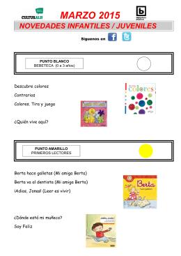 MARZO Infantil/Juvenil 2015