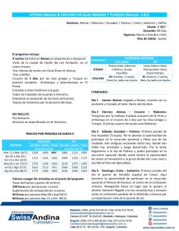 ATENAS 4Noches & CRUCERO DR ISLAS GRIEGAS Y TURQUIA