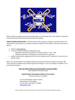 MDLL provides an opportunity for boys and girls ages 4
