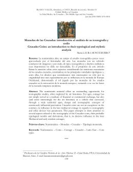 Monedas de las Cruzadas: introducción al análisis de su