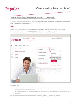 guía de acceso - Banco Popular