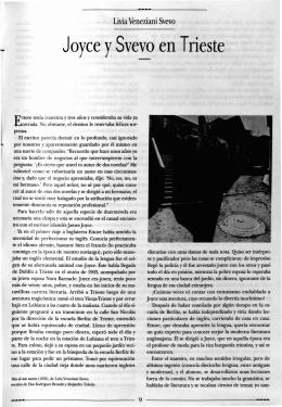 Joyce ySvevo en Trieste - Revista de la Universidad de México