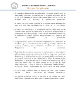Normas Disciplinarias UMG - Universidad Mariano Gálvez