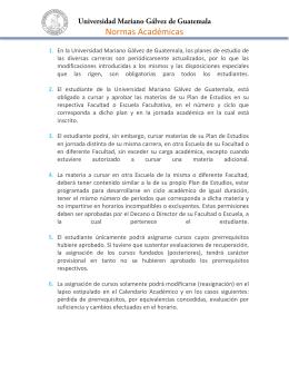 Normas Académicas UMG - Odontología