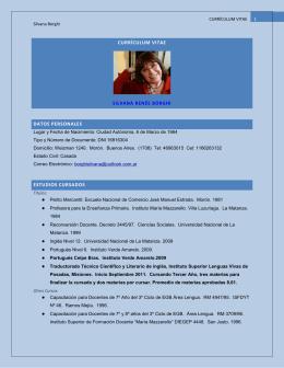 currículum vitae silvana renée borghi datos personales estudios