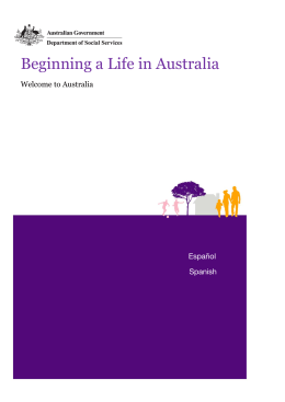 Beginning a Life in Australia - English