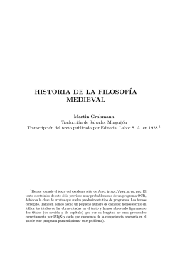 PDF Historia de la Filosofía Medieval