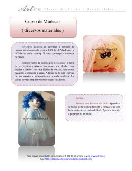 Curso de Muñecas ( diversos materiales )