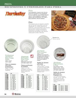 recipientes y utensilios para pizza