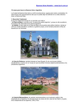 10 cosas para hacer en Buenos Aires, Argentina