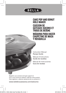 CAKE POP AND DONUT HOLE MAKER CUissON DE gâTEAUx